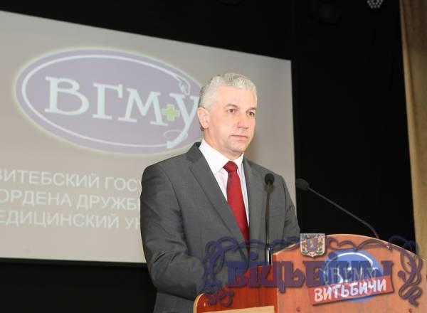 Ректор ВГМУ Щастный: Президент Лукашенко назвал Витебский государственный медицинский университет одним из лучших вузов страны