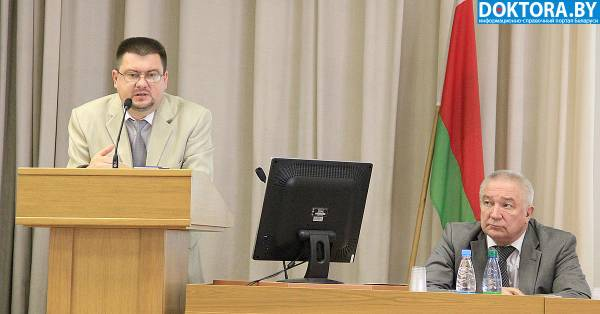 выступления замминистра здравоохранения Игоря Лосицкого и главного уролога Беларуси Александра Строцкого