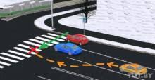Примерная схема движения BMW и пешехода в момент ДТП 20 октября 2011 года на проспекте Мира.