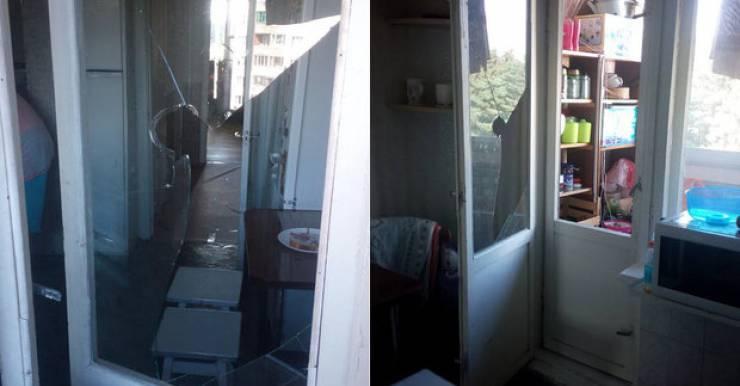 Квартира Дмитрия Середы после штурма
