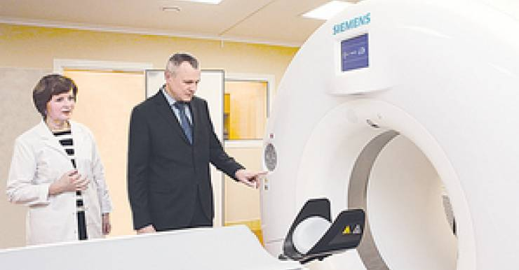 Государство подарило госпиталю МВД в Минске новый компьютерный томограф за 2,3 миллиона евро