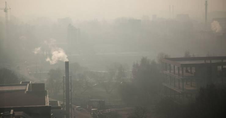 Смог в Минске 29 октября